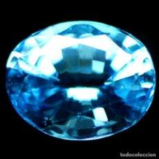 Coleccionismo de gemas: TOPACIO AZUL SUIZO 8,5 X 7,0 MM.. Lote 184560711