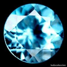 Coleccionismo de gemas: TOPAZIO AZUL SUIZO REDONDO 6 MM. Lote 184562118