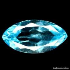 Coleccionismo de gemas: TOPACIO AZUL SUIZO 12,3 X 6,3 MM.. Lote 184562732