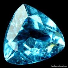 Coleccionismo de gemas: TOPACIO AZUL SUIZO 12,8 X 12,1 MM.. Lote 184563800