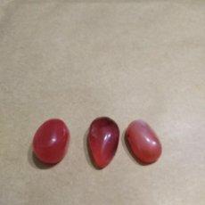 Coleccionismo de gemas: LOTE DE 3 CORNALINA NATURALES DE 26,50CT.. Lote 184566538