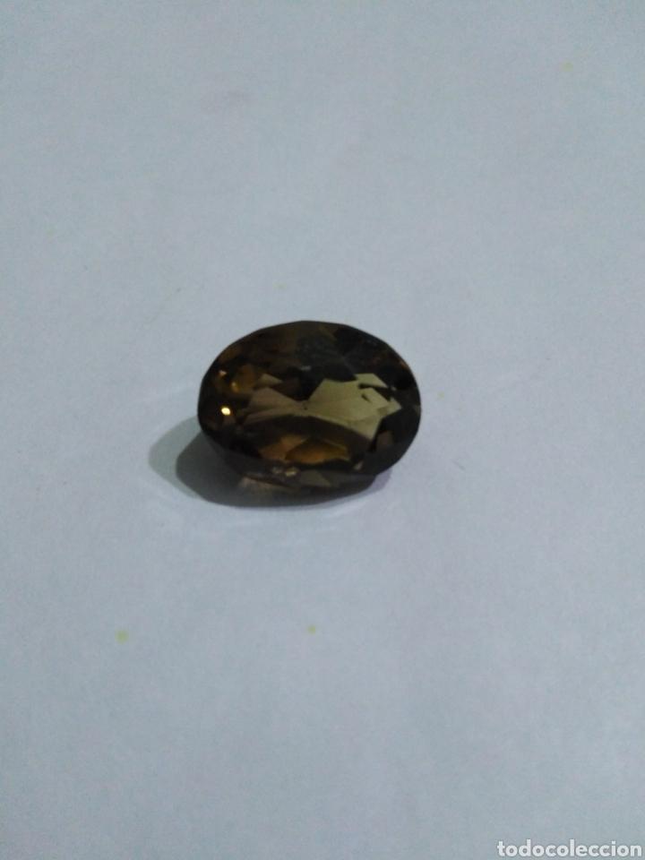 CUARZO NATURAL AHUMADO DE 13,30CT. (Coleccionismo - Mineralogía - Gemas)