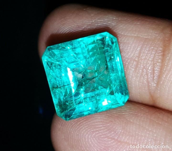Coleccionismo de gemas: Esmeralda / esmeralda natural no tratada, 9.06 Ct + Certificado - Foto 2 - 189242903