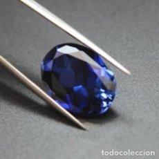 Coleccionismo de gemas: PRECIOSA TANZANITA CHATHAM COLOR AZUL TALLA OVAL DE 6.50 CT.. Lote 189415682