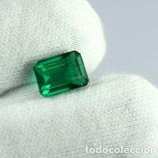 Collectionnisme de gemmes: GRANATE VERDE DEMANTOIDE NATURAL DE LOS URALES (RUSIA) TALLA ESMERALDA CON 3.85 CT.CERTIFICADA AGSL.. Lote 190016577