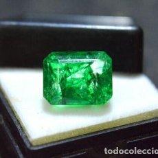 Coleccionismo de gemas: ESMERALDA DENDRÍTICA TIPO PANNA CON TALLA OCTAGONAL DE 6.85 CT. Lote 190298467