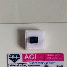 Coleccionismo de gemas: BONITA IOLITA AZUL NATURAL DE MADAGASCAR TALLA OCTAGONAL CON 13.05 CT CERTIFICADA AGI. ¡¡¡OFERTA!!!. Lote 190478995