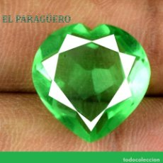 Coleccionismo de gemas: ESMERALDA CORAZON DE 12,95 KILATES CON CERTIFICADO AGI - MEDIDA 1,6 X 1,6 X 0,8 CENTIMETROS Nº7. Lote 191849675