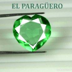 Coleccionismo de gemas: ESMERALDA CORAZON DE 12,75 KILATES CON CERTIFICADO AGI - MEDIDA 1,7 X 1,6 X 0,7 CENTIMETROS Nº30. Lote 191849793