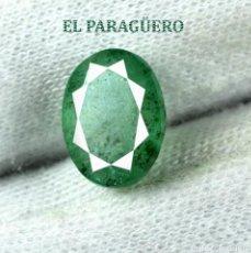 Coleccionismo de gemas: RARA ESMERALDA DE 3,10 KILATES CON CERTIFICADO AGI - MEDIDA 1,0 X 0,8 X 0,5 CENTIMETROS Nº39. Lote 191943902