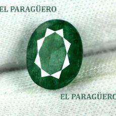 Coleccionismo de gemas: RARA ESMERALDA DE 4,30 KILATES CON CERTIFICADO AGI - MEDIDA 1,2 X 1,0 X 0,5 CENTIMETROS Nº74. Lote 191944013