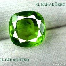 Coleccionismo de gemas: PERIDOT VERDE DE 7,65 KILATES CON CERTIFICADO AGI - MEDIDA 1,2 X 1,2 X 0,7 CENTIMETROS Nº37. Lote 192103617