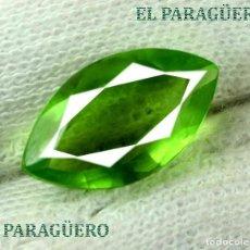 Coleccionismo de gemas: PERIDOT VERDE DE 6,20 KILATES CON CERTIFICADO AGI - MEDIDA 1,6 X 0,9 X 0,6 CENTIMETROS Nº42. Lote 192104067