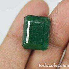 Coleccionismo de gemas: ESMERALDA DENDRÍTICA NATURAL DE COLOMBIA VERDE MAR DE 12.20 CT. CERTIFICADA EGL.. Lote 192104553