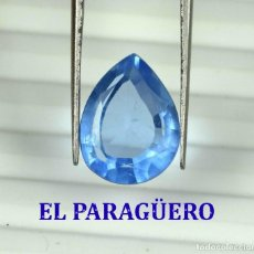 Coleccionismo de gemas: TOPACIO AZUL DE 6,20 KILATES CON CERTIFICADO AGI - MEDIDA 1,4 X 1,0 X 0,6 CENTIMETROS Nº1. Lote 192106160