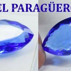 Coleccionismo de gemas: TOPACIO AZUL DE 39,50 KILATES CON CERTIFICADO EGL - MEDIDA 3,3 X 1,8 X 1,0 CENTIMETROS Nº13. Lote 192106490