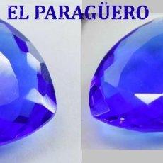Coleccionismo de gemas: TOPACIO AZUL DE 49,75 KILATES CON CERTIFICADO EGL - MEDIDA 2,8 X 2,8 X 0,9 CENTIMETROS Nº15. Lote 192106520