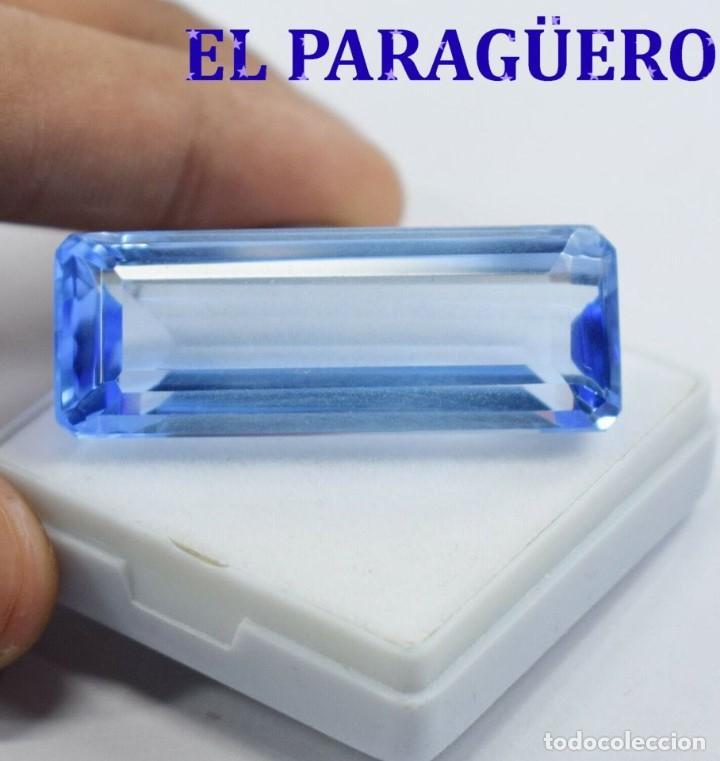 TOPACIO AZUL DE 42,00 KILATES CON CERTIFICADO EGL - MEDIDA 4,6 X 1,3 X 0,7 CENTIMETROS Nº24 (Coleccionismo - Mineralogía - Gemas)