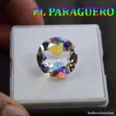 Coleccionismo de gemas: LUJOSO TOPACIO MISTICO DE 14,60 KILATES - MEDIDA 1,7 X 1,7 X 0,9 CENTIMETROS Nº7. Lote 192106883