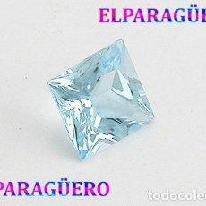 Collezionismo di gemme: LUJOSA AGUAMARINA DE 6,25 KILATES CON CERTIFICADO AGI - MEDIDA 1,1 X 1,0 X 0,7 CENTIMETROS Nº2. Lote 192200371