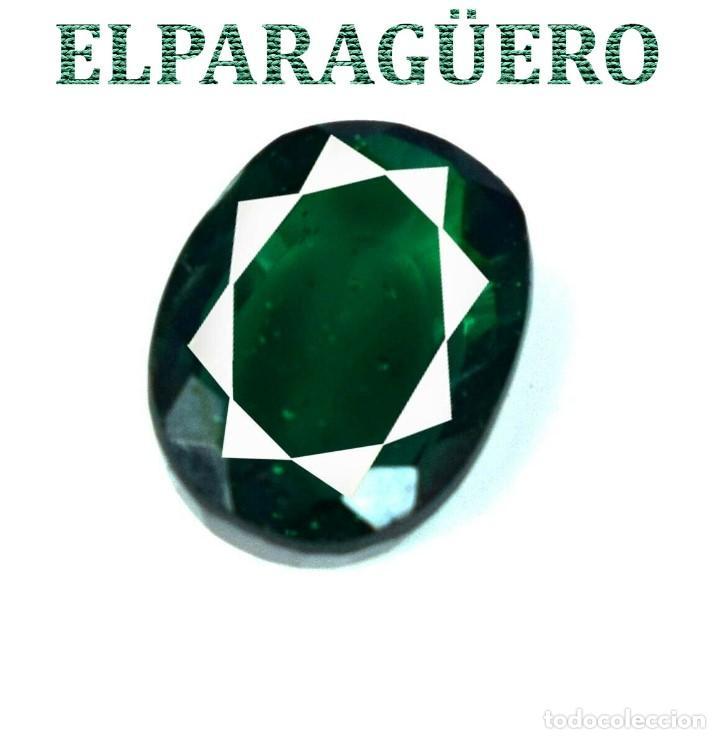 VERDE ESMERALDA DIOPSIDE DE 7,35 KILATES CON CERTIFICADO AGI MEDIDA 1,1 X 0,9 X 0,6 CENTIMETROS Nº13 (Coleccionismo - Mineralogía - Gemas)