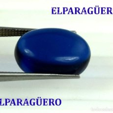 Coleccionismo de gemas: ZAFIRO AZUL CABUCHON DE 9,20 KILATES CON CERTIFICADO AGI MEDIDA 1,5 X 1,1 X 0,8 CENTIMETROS Nº26. Lote 192201795
