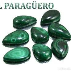 Coleccionismo de gemas: LOTE DE 8 MALAQUITAS CON UN TOTAL DE 114,60 KILATES - MIDE CADA UNA APROXIMADAMENTE 2,2 X 1,4 CM Nº3. Lote 192295200