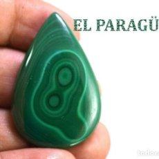 Coleccionismo de gemas: MALAQUITA LAGRIMA DE 72 KILATES - MIDE 4 X 2,50 CENTIMETROS - Nº4. Lote 192295410