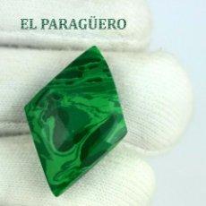 Coleccionismo de gemas: MALAQUITA RONBO DE 22,55 KILATES CON CERTIFICADO AGI - MIDE 3,3 X 2,2 X 0,7 CENTIMETROS - Nº2. Lote 192295781