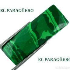 Coleccionismo de gemas: MALAQUITA RECTANGULAR DE 15,50 KILATES CON CERTIFICADO AGI - MIDE 3,0 X 1,1 X 0,5 CENTIMETROS - Nº3. Lote 192295865