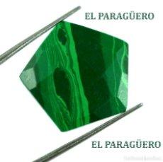 Coleccionismo de gemas: MALAQUITA MUY RARA DE 11,80 KILATES CON CERTIFICADO AGI - MIDE 1,9 X 1,9 X 0,4 CENTIMETROS - Nº4. Lote 192295952
