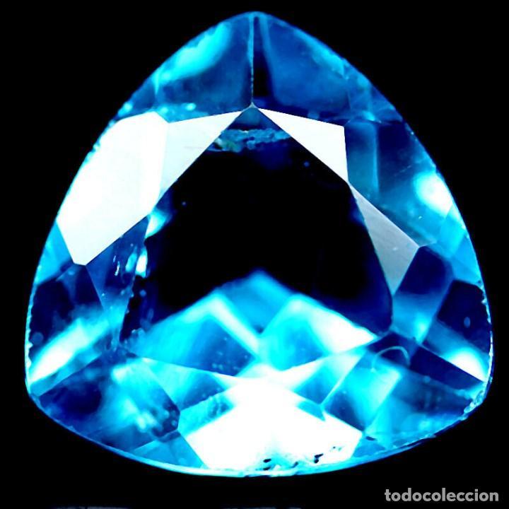 TOPACIO AZUL SUIZO 12,1 X 12,2 MM. (Coleccionismo - Mineralogía - Gemas)
