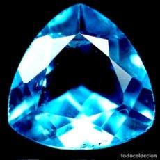 Coleccionismo de gemas: TOPACIO AZUL SUIZO 12,1 X 12,2 MM.. Lote 192348970
