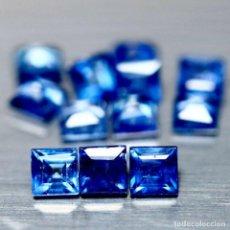 Coleccionismo de gemas: ZAFIRO AZUL CUADRADO 3,3 MM.. Lote 237571995