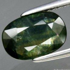 Coleccionismo de gemas: GEMAS ZAFIRO VERDE AZULADO NATURAL OVALADO DE 1.70CT, 9X6.2 MM, TAILANDIA.. Lote 192748277