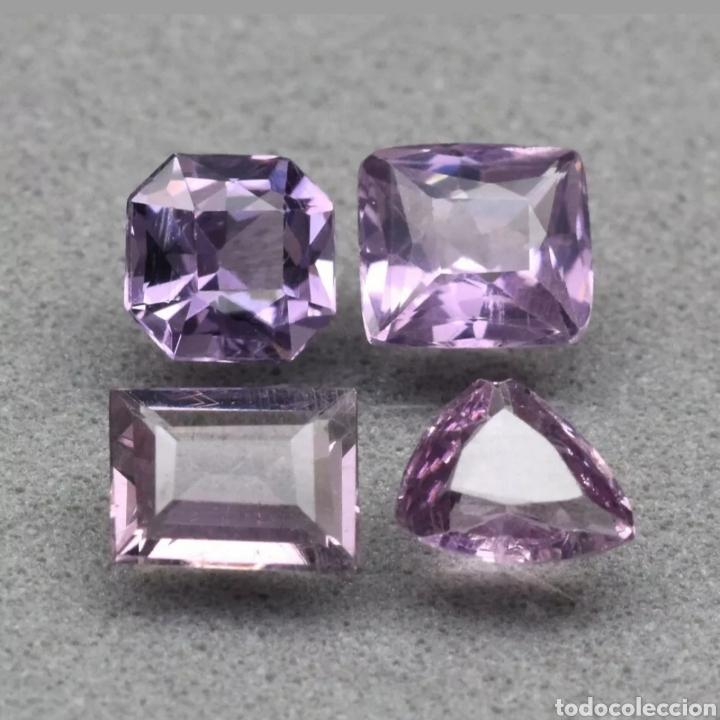 GEMAS LOTE DE 4 PIEZAS ESPINELA PÚRPURA 1.99CT (Coleccionismo - Mineralogía - Gemas)