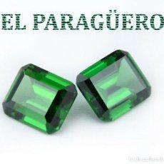 Coleccionismo de gemas: 2 DELICIOSAS ESMERALDAS DE 10 KILATES LAS 2 - MEDIDA 1,1 X 0,8 X 0,6 CENTIMETROS Nº29. Lote 193731612