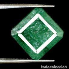 Coleccionismo de gemas: ESMERALDA NATURAL DE COLOMBIA IRIDISCENTE CON TALLA OCTAGONAL CON 6.75 CT CERTIFICADA AGI.. Lote 193760657