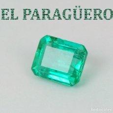 Coleccionismo de gemas: ESMERALDA DE 15,10 KILATES CON CERTIFICADO - MEDIDA 1,5 X 1,1 X 0,6 CENTIMETROS W1. Lote 271697958