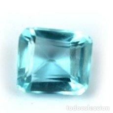 Coleccionismo de gemas: AGUAMARINA AZUL NATURAL DE BRASIL TALLA MIXTA FANCY OCTAGONAL CON 5.60 CT CERTIFICADA AGI. Lote 194070708