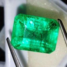 Coleccionismo de gemas: ESMERALDA NATURAL 8.42.CTS + CERTIFICADO GGL - 13.80.MM X 10.76.MM X 7.85.MM ORIGEN COLOMBIA. Lote 194340147