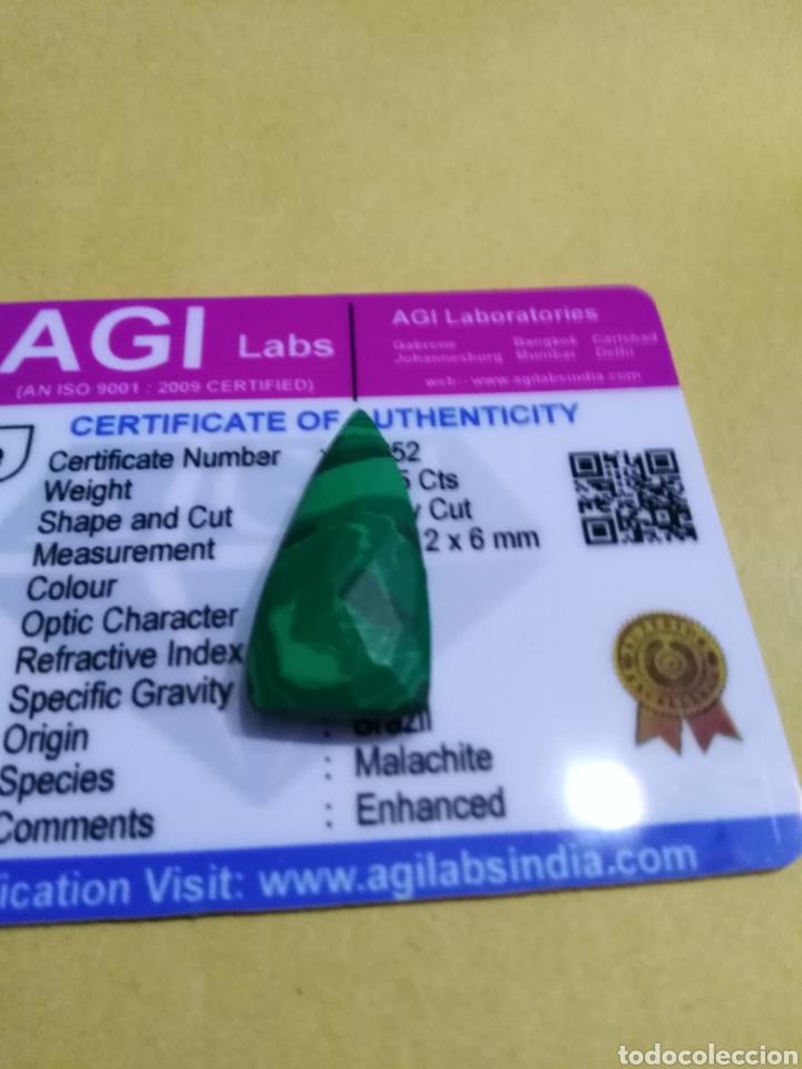 MALAQUITA NATURAL DE 11,55CTS. (Coleccionismo - Mineralogía - Gemas)