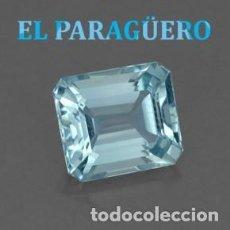 Collezionismo di gemme: LUJOSA AGUAMARINA DE 4 KILATES CON CERTIFICADO AGI - MEDIDA 1,1 X 0.9 X 0,5 CENTIMETROS Nº5. Lote 194951243