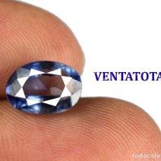 Coleccionismo de gemas: ZAFIRO AZUL DE 3,45 KILATES CON CERTIFICADO AGI - MEDIDA 1,0 X 0,7 X 0,4 CENTIMETROS Nº12. Lote 194964547