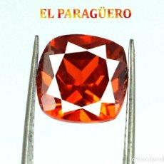 Coleccionismo de gemas: ZAFIRO NARANJA DE 12,95 KILATES CON CERTIFICADO AGI - MEDIDA 1,2 X 1,2 X 0,8 CENTIMETROS Nº24. Lote 194966955