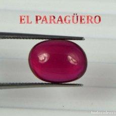 Coleccionismo de gemas: RUBI CABUCHON ROJO DE 6,50 KILATES CON CERTIFICADO AGI - MEDIDA 1,1 X 0,8 X 0,5 CENTIMETROS Nº68. Lote 194968270