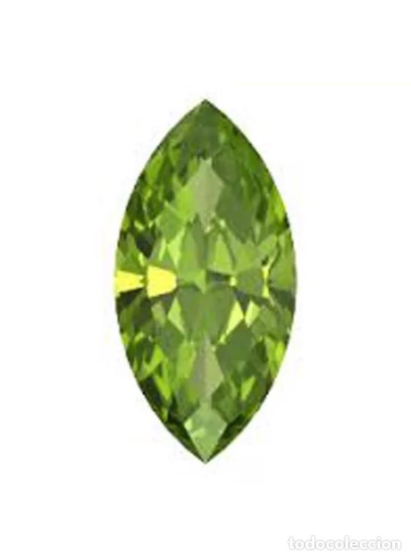 LUJOSO PERIDOT VERDE OLIVA DE 5,55 KILATES CON CERTIFICADO AGI - MIDE 1,5 X 0.9 X0,6 CENTIMETROS Nº1 (Coleccionismo - Mineralogía - Gemas)
