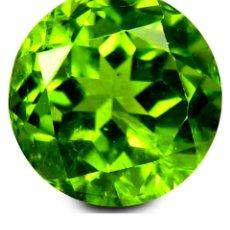 Coleccionismo de gemas: LUJOSO PERIDOT VERDE OLIVA DE 6,90 KILATES CON CERTIFICADO AGI - MIDE 1,3 X 1,3 X0,5 CENTIMETROS Nº2. Lote 195014556