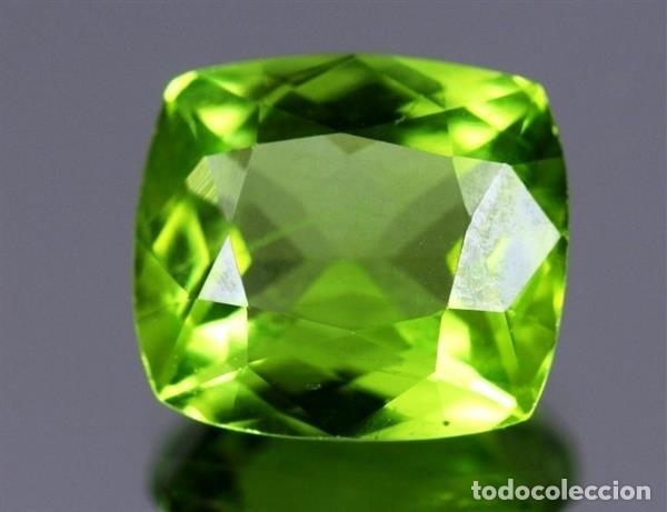 LUJOSO PERIDOT VERDE OLIVA DE 7,95 KILATES CON CERTIFICADO AGI - MIDE 1,2 X 1,2 X0,7 CENTIMETROS Nº4 (Coleccionismo - Mineralogía - Gemas)