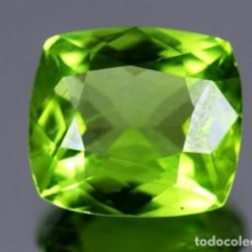 Coleccionismo de gemas: LUJOSO PERIDOT VERDE OLIVA DE 7,95 KILATES CON CERTIFICADO AGI - MIDE 1,2 X 1,2 X0,7 CENTIMETROS Nº4. Lote 195015030